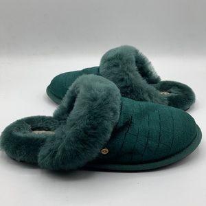 UGG Scufette Croc Velvet Emerald House Slippers